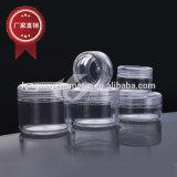 プラスチックPSの装飾的で小さく明確なクリーム色の瓶