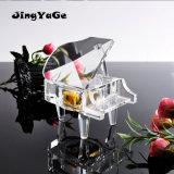 Beau piano en cristal gravé pour la faveur de mariage et de cadeaux d'anniversaire. Cadeaux en cristal