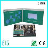 5広告のためのインチTFT LCDのビデオパンフレット