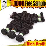 人間の毛髪を編んでいる適正価格6Aのインド人