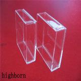 Прозрачные высокие распыленных силикатное стекло в форме квадрата контейнер