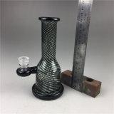 Tubo di acqua di vetro UV diritto del tubo nero da 5.5 pollici per fumare