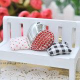 Azionamento a forma di cuore di cristallo dell'istantaneo del USB del metallo di giorno del biglietto di S. Valentino per il regalo di lusso
