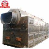 A baixa pressão do cilindro dobro Corrente-Raspa carvão eficiente elevado a caldeira despedida
