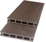 Decking деревянного зерна внешний устойчивый деревянный пластичный составной полый (25*150mm)