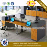 Bureau moderne en bois de cloison de verre aluminium (HX-8N0167)