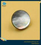 Natur-schwarze Perlmuttshell-Taste mit zusammengebautem Metall