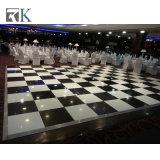 Plancher de danse en bois blanc et noir plancher de danse pour mariage