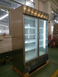 Glasgetränk-Bildschirmanzeige-Edelstahl-Handelskühlraum-Schaukasten-Kühlvorrichtung der tür-1400L kalter