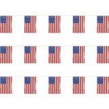 Drapeau américain Buntings 100% polyester Tissu Pays Bunting Drapeaux de chaîne