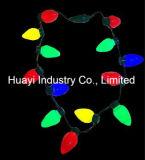 Coleção de lâmpadas grandes para férias de Natal Blinking Necklaces