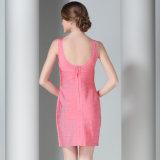 Robe du bandage des femmes avec la robe Backless sans manche de circuit de V-Collet