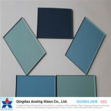 ISO 증명서를 가진 밝은 파란색 진한 파란색 또는 회색 사려깊은 유리