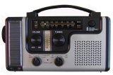 Для ручного вращения солнечной энергии в чрезвычайных ситуациях динамо AM/FM/WB Weather Radio светодиодный фонарик зарядное устройство