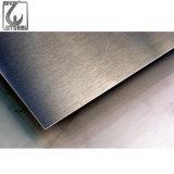 La norme ASTM AISI enduit de PVC Plaque en acier inoxydable brossé satin