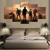 5 Panel de la impresión de HD pintura impresa lona de arte moderno Decoración Arte de la pared de fotografías para la sala Ejército cartel en lona Mc-156