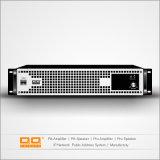 Amplificador de potência profissional para o sistema de som da sala de conferências