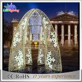 Bogen-Motiv-Lichter der Weihnachtswarme weiße im Freien Dekoration-3D LED
