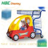 Supermercado carrinho de compras de brinquedos para crianças com fechadura tipo moeda