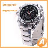 Het waterdichte Horloge DVR van de Spion van het 1080pIRL Roestvrij staal