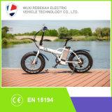 20 polegadas 500W48V que dobram a bicicleta elétrica da bateria de lítio das bicicletas do pneu gordo