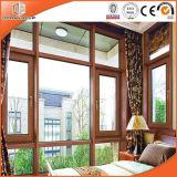 Алюминиевое одетое твердое окно Casement окна наклона & поворота древесины сосенки, древесина дуба алюминиевого сплава одетая твердая