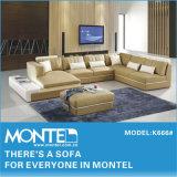 Sofá de couro, Mobiliário doméstico moda Italiana sofá de canto para Sala K666#