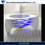 De acryl Stevige Kunst die van de Oppervlakte de Koffietafel van 1000mm voor Verkoop aansteken