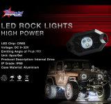 공장 가격 4 깍지 Bluetooth 통제 Offroad 트럭 차 지프 배 기관자전차를 위한 소형 RGB LED 바위 빛 9W IP68