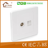 2016 Hot Sale UK Standard Telephone & TV Socket