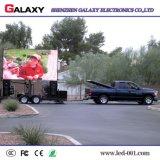 P5/P6/P8/P10 esterni riparati installano la pubblicità di video schermo di visualizzazione dell'affitto LED per il camion mobile