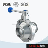 Válvula de esfera tipo borboleta de aço inoxidável soldada / apertada (JN-BLV1014)