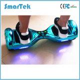 Chrome Electroplated sec électrique Hoverboard de planche à roulettes de Segboard de mobilité de Gyroskuter Hoverboard de ventes de Smartek de chrome de mode chaude de scooter avec DEL 010 Chorme