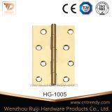 Dobradiça de porta de bronze da ferragem da mobília com cabeça lisa (HG-1005)