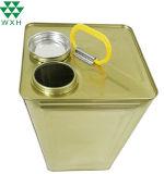15L huile d'Olive carré du tambour de la peinture de l'étain peut métal Conteneur d'huile moteur avec la vis du couvercle supérieur de l'étain peut pour la peinture ou une voiture de la mise en conserve de l'huile utilisée