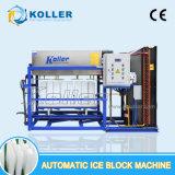 Machine directement vaporisée de bloc de glace de 1.5 tonne pour la fin commerciale