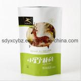 con el SGS aprobado levantarse la bolsa de plástico Ziplock para el alimento