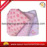 Tecido de lã rosa velo polar Manta de avião