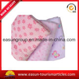 Tecido de lã rosa profissional Polar Fleece Airline Blanket Knitted Throw Blanket