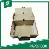 Barniz satinado de cartón de cerezas de papel con asa