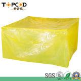 Kundenspezifische gelbe grün-blaue Beutel-Fabrik des Film-Vci