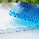 Hoja hueco del policarbonato del panal para la cámara fría industrial