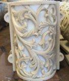 Sandstein Polyresin Skulptur, die Relievo Dekorationen schnitzt