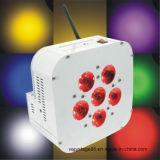 DMX 512 de Draadloze Batterij Aanvullinge 6PCS Lichten van het PARI van Rgbawuv 15W 6in1