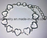 Braccialetto del cuore dell'argento sterlina di abitudine 925