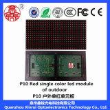 Tela de indicador ao ar livre do módulo do diodo emissor de luz para anunciar a única cor do vermelho