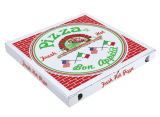 Custom Food Grade E Flute Paper Carton Pizza Box