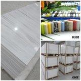 12 milímetros Nervuras padrão de mármore cor artificial de superfície contínua Folha