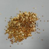 Aluminum Nail Flakes Sequins Powder, Shiny Gold Glitter Irregular Flakes