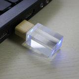 Mecanismo impulsor cristalino de cristal luminoso del flash del USB del metal